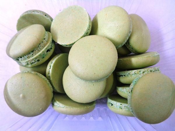 френски макарони зелени